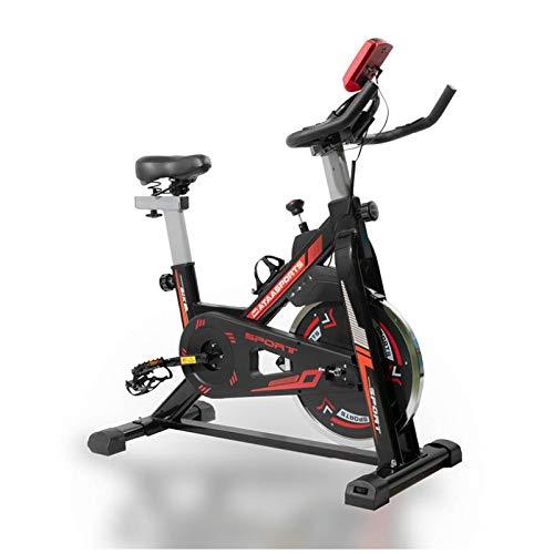 Cyclette da spinning ATAA Power 100 - Nero- Bicicletta cardio e Fitness leggera con display che riporta distanza, velocità, calorie e batticuore