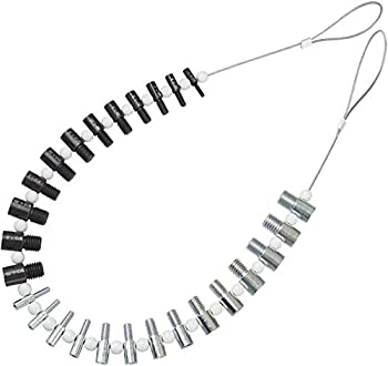 BLIKA Nut & Bolt Thread Checker  Inch & Metric  - 26 Male/Female Gauges - 14 Inch & 12 Metric