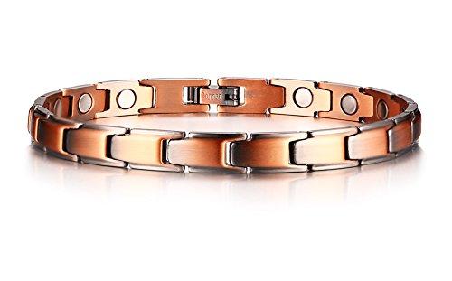 VNOX 99,9% Reines Rot Kupfer Magnetische Gesundheit Heilung Therapie Armbänder für Arthritis Schmerzlinderung Link Armband für Frauen Mädchen