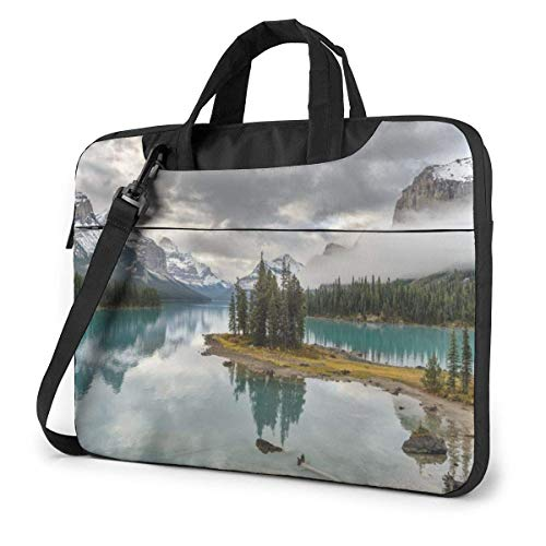 15.6″Lightweight Laptop Notebook Shoulder Backpack Bag Lake Nature Mountain Waterproof PC Briefcase Messenger with Strap