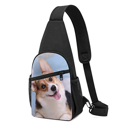 Corgi - Mochila bandolera para perros, para viajes, senderismo, bolsa de hombro para hombre