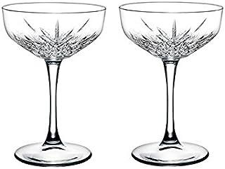 "Pasabahce 440236 Sektschale ""Timeless"" im Kristall-Design, Höhe ca. 15,7 cm, 2er Set aus Glas"