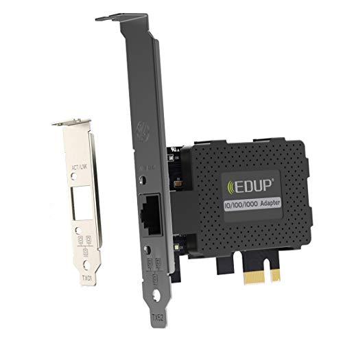 EDUP - Adaptador inalámbrico PCI Express Wi-Fi para disipador de calor, Tarjeta de red Gigabit Ethernet PCI Express PCIE