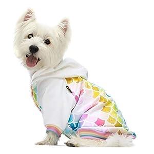 Fitwarm Mermaid Dog Hoodies Clothes Hooded Coat Pet Sweatshirts Cat Jackets Small