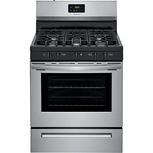 """Frigidaire FCRG3052AS 30"""" Gas Freestanding Range, Cont Grates Manual Clean - Stainless"""