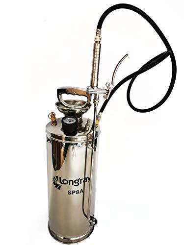 Longray SP8A Stainless Steel Sprayer, 2 Gallon, Metallic