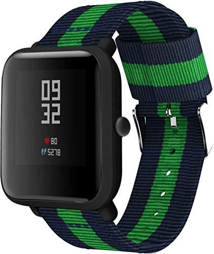 Correas para Relojes Nylon Compatible con Huawei Watch GT 2 (46mm) / Watch GT 2e / Watch GT, Correa de Reloj de NATO para Mujer y Hombre con Hebilla de Acero Inoxidable (22mm, Pattern 4)