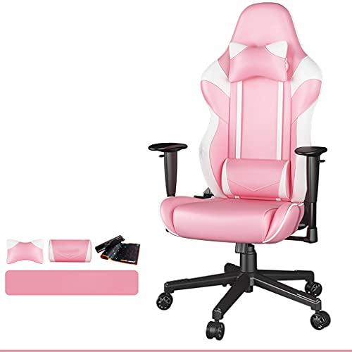 Aoyo Sedia Comoda Sedia da Gioco, Sedia da Ufficio con Sedia da Ufficio con Sedia da Ufficio Concorrenziale(Color:Rosa)