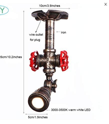 Deckenlampe Deckenbeleuchtung Deckenstrahler Industrielle Led-Deckenleuchte Art-Deco-Lampe Zur Oberflächenmontage Verstellbare 3-W-Led-Lampe Mit Steckdose Für Einsteckbeleuchtung
