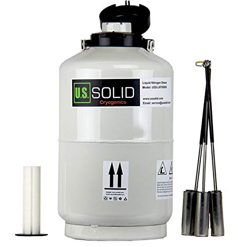 U.S.Solid 10 L tanque nitrogeno liquido contenedor nitrógeno líquido criogénico LN2 Dewar con 6 recipientes