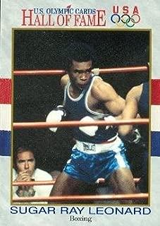 Sugar Ray Leonard trading card (Boxing Boxer Olympic USA Gold) 1991 Hall of Fame #29