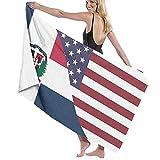 SUHETI Toallas de baño,de Playa,Bandera de la Amistad de República Dominicana Estados UnidosMuy Absorbente y Suave, Adecuado para hogares de Yoga, Fitness, Camping y Deportes al Aire Libre...