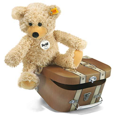 Steiff Charly Schlenker-Teddybär im Koffer - 30 cm - Kuscheltier für Kinder - weich & waschbar - beige (012938)