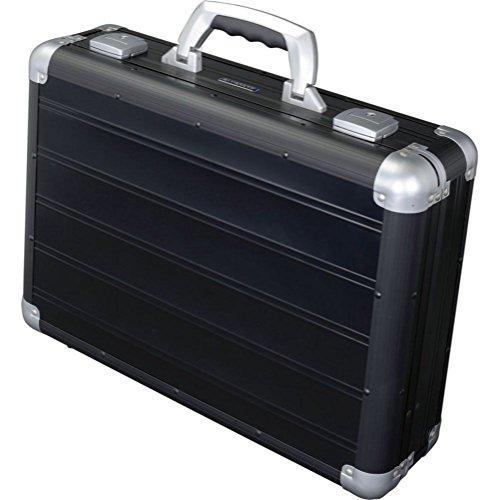 Alumaxx Attaché Laptopkoffer Venture aus Aluminium, Circa 33, 5 × 45, 5 × 13, 5 cm Aktentasche, 46 cm, 17 L, Schwarz Matt