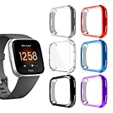 SMEECO Screen Protector for Fitbit Versa Full Cover Fitbit Versa Case with Flexible Soft Lightweight TPU Cover Shock Proof Bumper Shell 2
