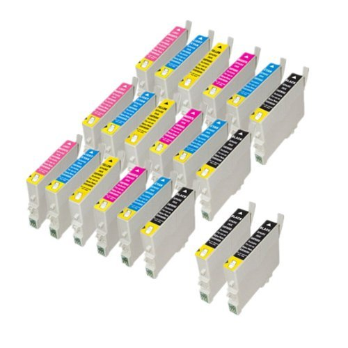 PerfectPrint Compatible Tinta Cartucho Reemplazo Para Epson Stylus Photo R-200 210 220 300 300-M 310 320 340 RX-300 500 600 T0487 (Negro/Cian/Magenta/Amarillo/Ligero-Ciano/Ligero-Magenta, 20-Paquete)