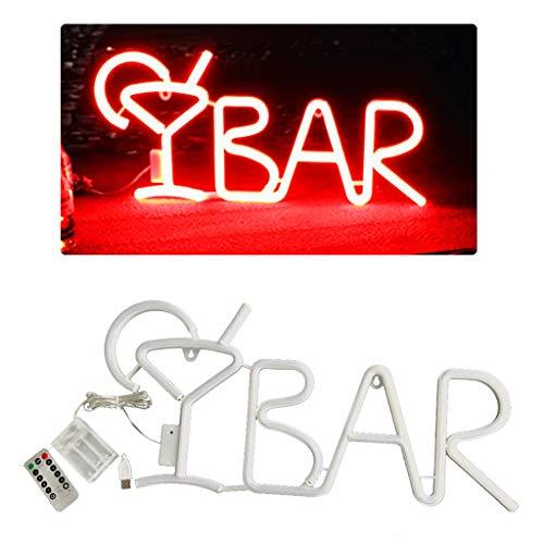 Wanghuaner Juice Letter BAR Neon Lamp Creative LED Night Light Bar Wall Hanging Ornaments