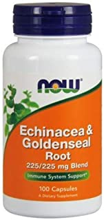 Echinacea & Goldenseal Root, 100 Caps by Now Foods (Pack of 6)