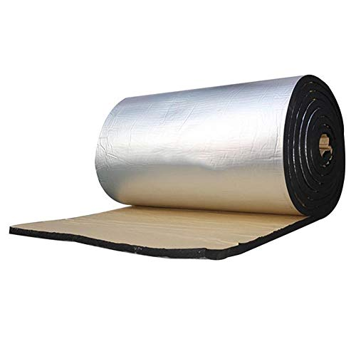 Verloco isolatiekussen voor auto, 10 mm, luchtbelvrije geluidsisolatie, sismik-pad, stempel van aluminiumfolie, vuurvast, met zelfklevende lijm, eenvoudig aan te brengen voor deuren, vloeren, motor
