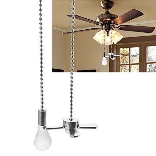 YINETTECH Ventiladores para el techo con lámpara