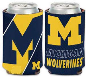 WinCraft NCAA University Michigan Wolverines 1-Pack 12 oz. 2-Sided Design Can Cooler