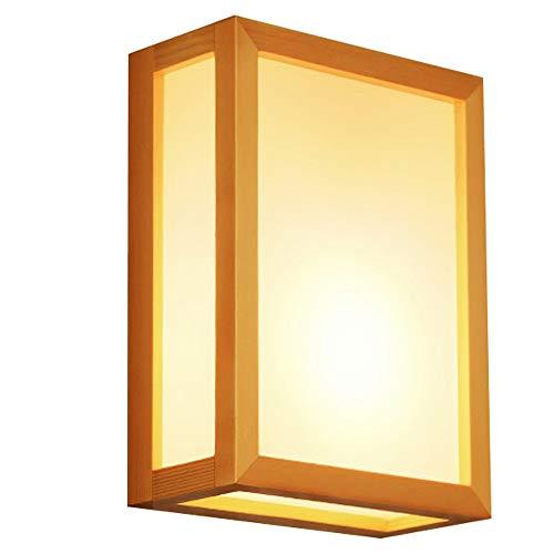 ZHANGYN Candelabros de pared Sólido simple de madera Lámpara de pared creativa moderna japonesa acrílico Sala de estar Balcón dormitorio de pared de la luz 9.4 pulgadas * 7.1 pulgadas
