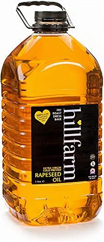 Hillfarm Oils Olio di colza, spremuto a freddo extra vergine - 5L