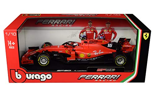 Ferrari SF90#16 Charles Leclerc F1 Formula 1 (2019) 1/18 Diecast Model Car by Bburago 16807 CL