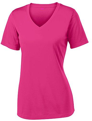 Opna Women's Short Sleeve Moisture Wicking Athletic Shirt, Medium, Pink Raspberry
