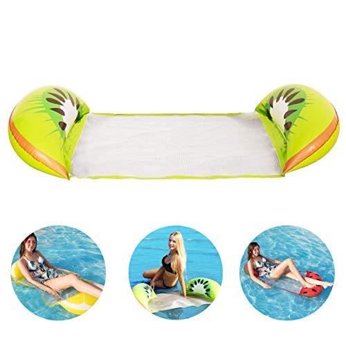 EEstera inflable de la silla del flotador del sillón reclinable plegable ligero de la hamaca de la cama del agua para una playa de la piscina del partido del agua del día de fiesta, 126 * 73 CM