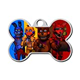 Personalized Pet Id Tags for Dogs and Cats Five Nights at Freddy's 24 Outdoor Custom Zinc Alloy with Double-Sided Printing