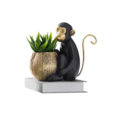 NYKK Macetas de Flores Estilo nórdico Creativo Adornos for Monos Multifunción Oficina Pluma Titular Inicio Planta Maceta Macetas de jardinería Decorativas Modernas