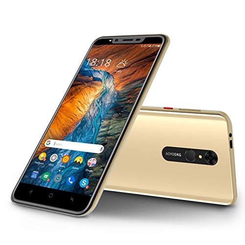 Dual-SIM Smartphone Bundle Handy ohne Vertrag Günstig 5.5 Zoll FHD, 4800 mAh Akku, 16GB ROM 128 GB Erweiterbar, 5 MP + 8 MP Dual Kamera, Android 9.0 Einsteiger Handy Face ID + Touch ID