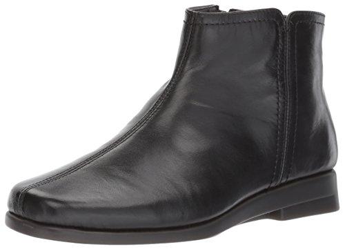 Aerosoles Women's Double Trouble 2 Ankle Bootie, Black Leather, 5.5 M US