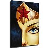 anzonto - Quadro da parete con cornice, motivo: Wonder Woman, 30,5 x 45,7 cm