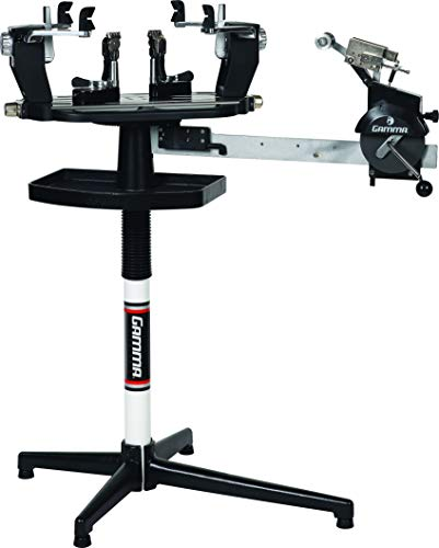 Gamma Professional 6004 Tennis Racquet Stringing Machine: Standing Racket String Machine, Tools and Accessories Included – Tennis, Squash, Badminton, 6pt SC Suspension Mounting System