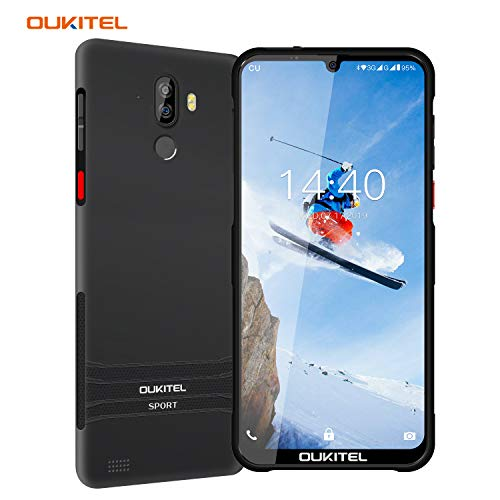 Rugged Smartphone Unlocked, OUKITEL Y1000 Drop Proof IP68 Waterproof Cell Phones, Android 9.0 3G Dual SIM 6.1inches Quad Core 2GB+32GB, 3600mAh Battery Fingerprint Face Unlocked Phones (Black)