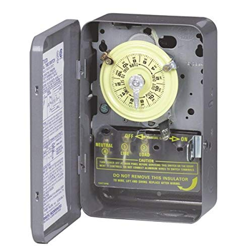 Intermatic T102 208-277-Volt SPST 24 Hour Mechanical Time Switch,...
