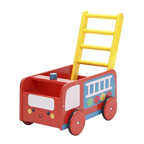 Labebe Lauflernwagen Holz, 2-in-1 Verwendung als Laufwagen, Blaues Polizeiauto Lauflernhilfe für 1-3 Jahre, Gehfrei Lauflernhilfe/Lauflernhilfe Holz/Baby Lauflernwagen Holz/Lauflernwagen Werkzeug