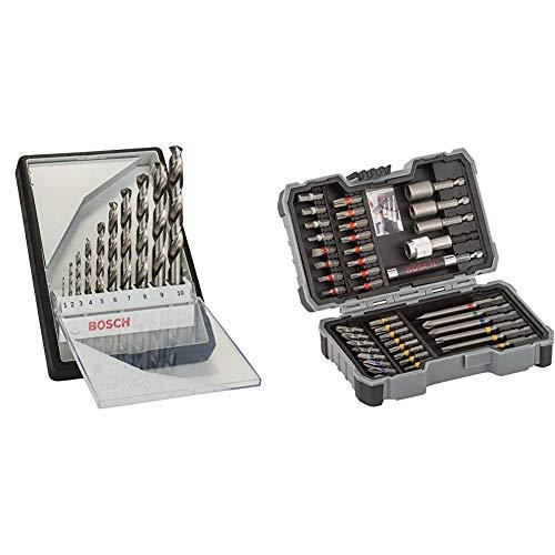Bosch Professional Metallbohrer-Set HSS-G Robust Line & Professional 43tlg. Schrauber Bit Set (Zubehör für Elektrowerkzeuge)