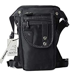 Huntforgold Men's Leg Bag Hip Pack Thigh Pouch Bicycle Motorcycle Camping Outdoor Bag