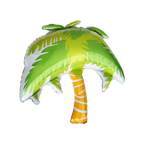 Oblique Unique® Folien Luftballon Ananas Melone Palme Früchte Ballons Sommer Garten Hawaii Motto Beach Party Geburtstag Fasching Karneval - wählbar (Palme)
