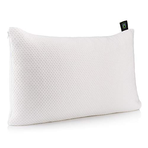 Bamboo Pillow With Shredded Memory Foam - by Martian Dreams - Adjustable Loft - Orthopedic Pillow for Neck Pain - Hypoallergenic - made with 280GSM fabric for a Luxurious Feel