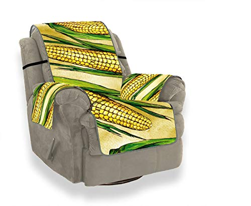 JOCHUAN Green and Yellow Ripe Corn Vegetables Recliner Sectional Sofa Cover Sofa Chair Covers Sofa Cover Kids Furniture Protector for Pets, Kids, Cats, Sofa