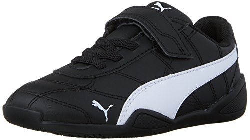PUMA Boys' Tune CAT 3 V INF Sneaker Black White, 4 M US Toddler