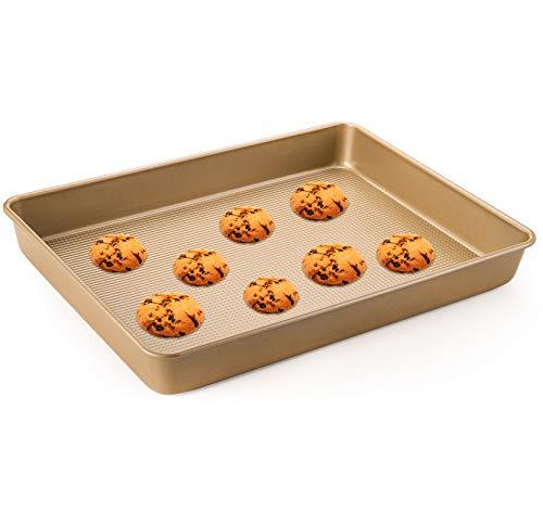 WUWEOT Non-Stick Rectangle Cake Pans, 15'x11.6' Baking Pan Cookie Sheet For Brownies, Cakes, Casseroles