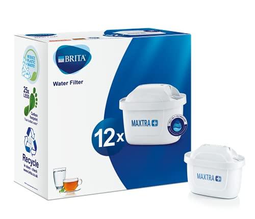 BRITA Maxtra+ Pack 12 Cartuccia Filtro dell'Acqua, Esterno: plastica^Interno: Carbone Attivo,...