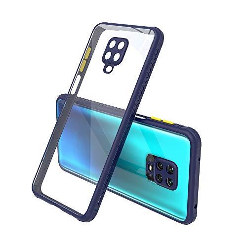 WANGZHEXIA Estuche Protector para Xiaomi. para Xiaomi Redmi Note 9 Pro Botón de Contraste de Textura Lateral del neumático Funda Protectora de teléfono PC + TPU a Prueba de Golpes