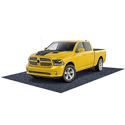 Pakoula Garage Car Floor Mat, 17  x 7 4 Reusable Washable Parking Mats, Absorbent Oil Mat for Golf Carts,Motorcycles,Protect Garage and Shop Floor Surface (17  x 7 4 )