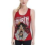 JRDDX One Piece Anime Women Vest Monkey D. Luffy Women Slim Sports Vest, Ladies Summer Sleeveless Top Black